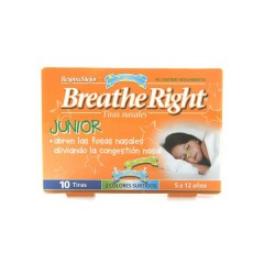 Breathe right respira mejor tira adh nasal niños 10 un