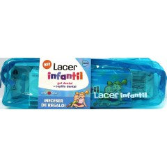 Lacer infantil neceser gel dental fresa 75 ml + cepillo