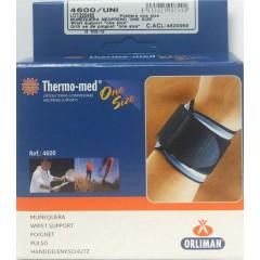 Thermo-med one size muñequera neopreno