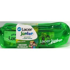 Lacer junior neceser gel dental menta 75 ml + cepillo