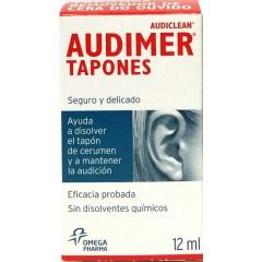 Audimer solución limpieza oídos audiclean tapones 12 ml