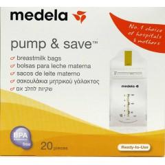 Medela bolsas para leche materna pump & save 20 un