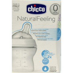 Chicco biberón natural feeling tetina inclinada 150 ml +0m