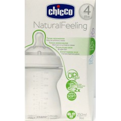 Chicco biberon natural feeling t. redondeada 250ml +4m