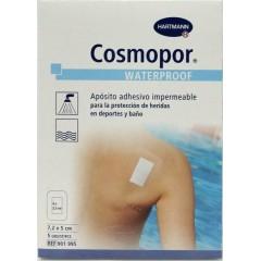 Cosmopor waterproof apósito adhesivo 7.2 cm x 5 cm 5 un