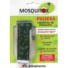 Mosquitox pulsera repelente mosquitos+ 2 pastillas