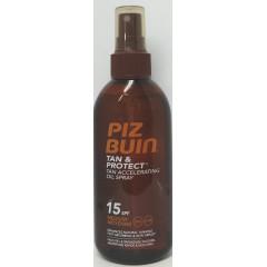 Piz Buin tan&protect spf 15 aceite en spray solar acelerador de bronceado 150 ml