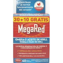Megared 500 omega 3 aceite de krill 40 cápsulas