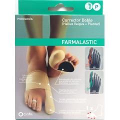 Farmalastic corrector doble juanetes y plantar pie derecho talla P