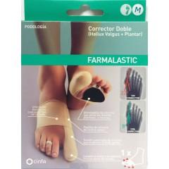Farmalastic corrector doble juanetes y plantar pie derecho talla M