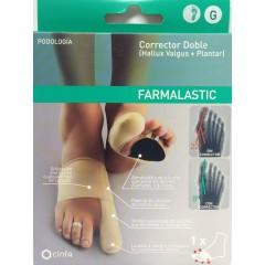 Farmalastic corrector doble juanetes y plantar pie derecho talla G