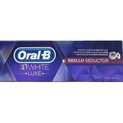 Oral B 3 dwhite luxe pasta dental blanqueante brillo seductor 75 ml