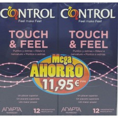 Control touch & feel preservativos 12 un 2 envases