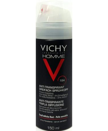 Vichy homme antitranspirante triple difusion 150 ml-Farmacia Olmos