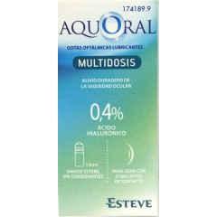 Aquoral gotas humectantes con ác. hialurónico 0.4% 10 ml