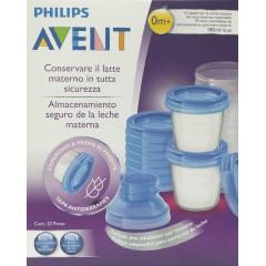 Avent recipientes para leche materna 10 vasos 180 ml