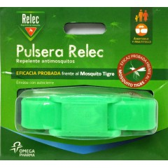 Relec pulsera repelente mosquitos (verde fluor)