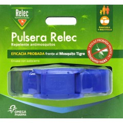 Relec pulsera repelente mosquitos (azul)