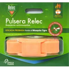 Relec pulsera repelente mosquitos (naranja fluor)