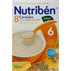 Nutriben 8 cereales y miel digest  600 g