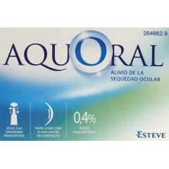 Aquoral gotas humectantes con ác. hialurónico 0.4% 0.5 ml 20 monodosis