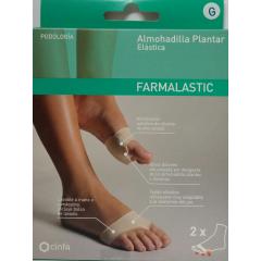 Farmalastic almohadilla plantar elástica t-g 2 un