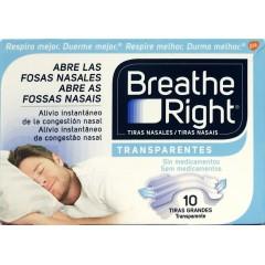 Breathe right tira adh nasal transparente talla G 10 un