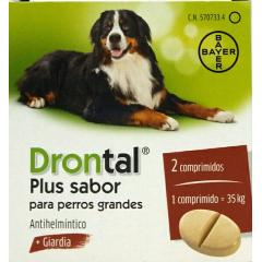Drontal plus sabor perros grandes 175/175/525 mg 2 comprimidos
