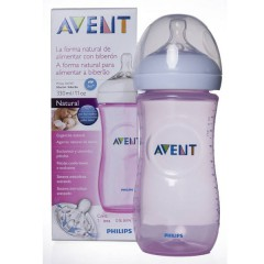 Avent biberon natural 330 ml rosa