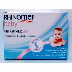 Rhinomer baby Narhinel confort aspirador nasal 10 recambios