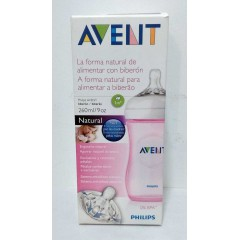Avent biberon natural 260 ml rosa