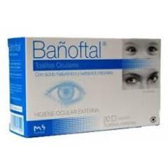 Bañoftal toallita ocular esteril  20 toallitas