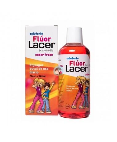 Lacer fluor diario 0,05 % fresa colutorio 500ml-Farmacia Olmos