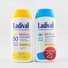 Ladival niños fotoprotector pieles atopicas fps 50 leche hidratante 200 ml +after sun 200 ml