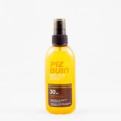 Piz Buin wet skin spf 30 protección alta spray solar corporal transparente 150 ml