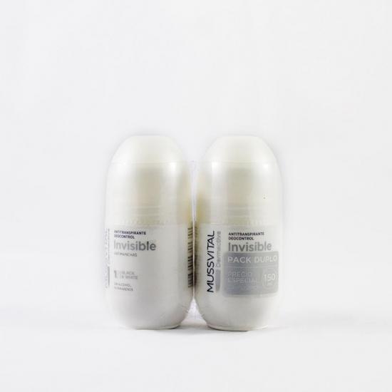 Mussvital dermactive desodorante invisible antimanchas roll-on 75ml duplo-Farmacia Olmos