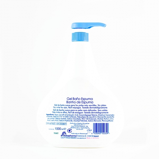 Sebamed baby baño espuma 1 l-Farmacia Olmos