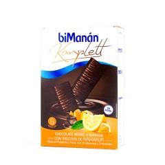 Bimanan komplett barritas chocolate negro & naranja con trocitos de naranja 6 un