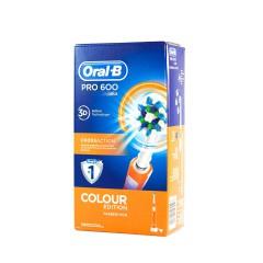 Oral B cepillo dental eléctrico recargable pro 600 cross action (naranja)