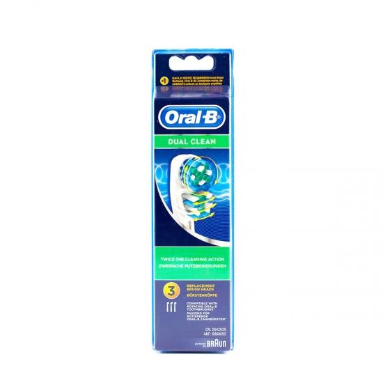 Oral B recambio cepillo dental eléctrico dual clean 3 un