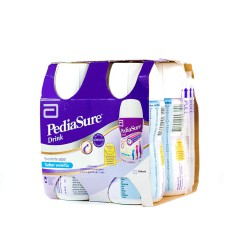 Pediasure drink vainilla 200 ml 4 botellas