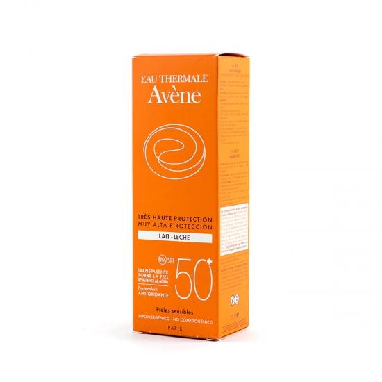 Avene proteccion spf50+ leche 100ml-Farmacia Olmos