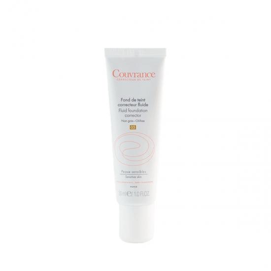 Avene couvrance maquillaje fluido  corrector spf 20 03 arena 30 ml-Farmacia Olmos