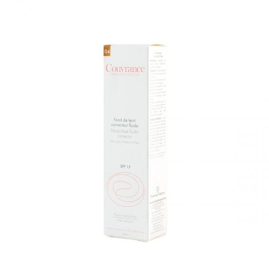 Avene Couvrance maquillaje fluído corrector spf 15 tono 04 miel 30 ml