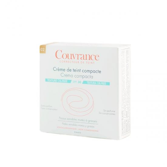 Avene Couvrance crema compacta spf 30 oil-free tono 02 natural