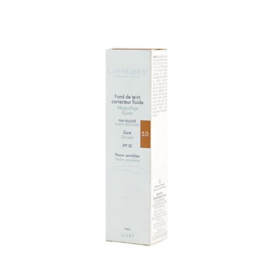 Avene couvrance maquillaje fluido corrector spf 20 05 Dorado 30 ml-Farmacai Olmos
