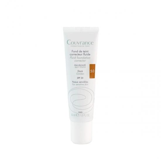 Avene couvrance maquillaje fluido corrector spf 20 05 Dorado 30 ml-Farmacia Olmos
