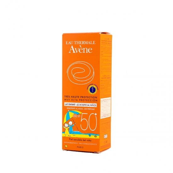 Avene proteccion niños spf50+ leche 100ml-Farmacia Olmos