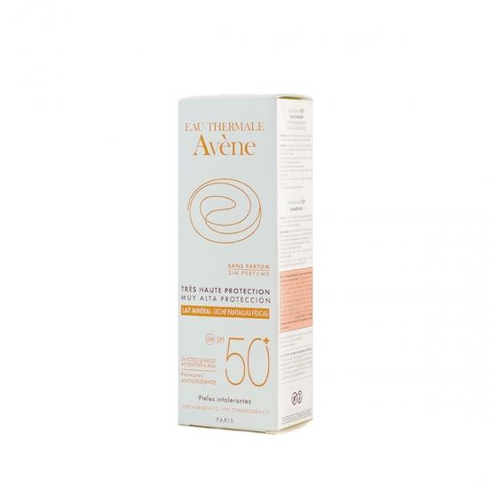 Avene Protección muy alta spf 50 leche pantalla física 100 ml