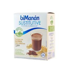 Bimanan sustitutive batidos con quinoa, trigo sarraceno y cacao 55 g 5 sobres